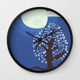 Tree in the moonlight Wall Clock