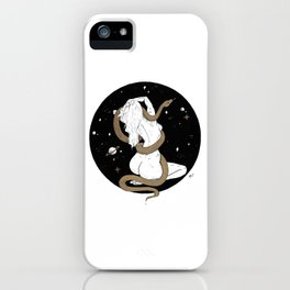 Space Goddess and the Golden Snake iPhone Case