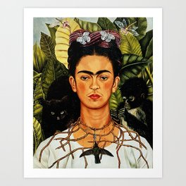 Frida Kahlo Cat Art Print