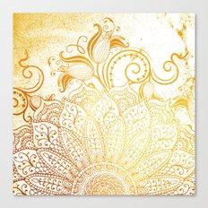 Mandala - Golden brush Canvas Print