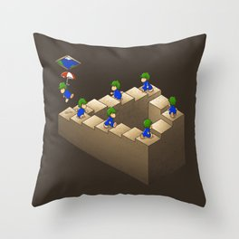 Lem C. Escher (brown variant) Throw Pillow