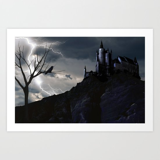 Mystery on the Hill Art Print