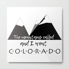 The Mountains Called Metal Print
