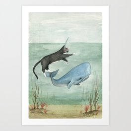 Millie and Her Whale Art Print