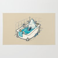 bath Area & Throw Rugs featuring BATH TIME by Letter_q