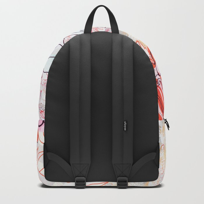 Abstract Floral Illustration Backpack