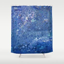blue melody Shower Curtain