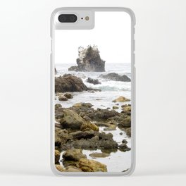 Rock Arch at Crystal Cove, Newport Beach, California Clear iPhone Case