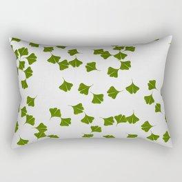 Gingko Leaf white - grey Rectangular Pillow