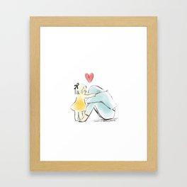 It's going be okay (little girl) Framed Art Print