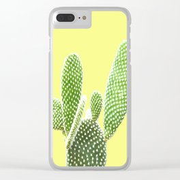 Cactus Yellow Background Clear iPhone Case
