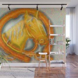 Golden horse Wall Mural