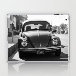Hermosa Beach Surf Bug, Black and White Photography Print, Beach Art, South Bay Los Angeles Art Laptop & iPad Skin