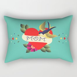 Mom Tattoo Rectangular Pillow