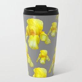 LEMON YELLOW SPRING IRIS GREY ART Travel Mug