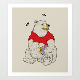 Silly ol' Bear Art Print