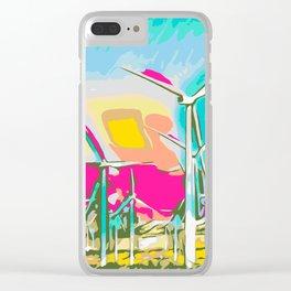 wind turbine Clear iPhone Case