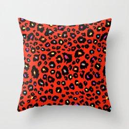 red animal Throw Pillow