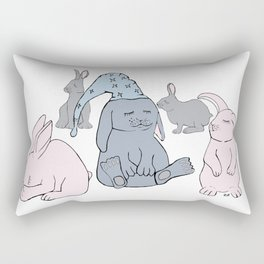 Sleeping Rabbits Rectangular Pillow