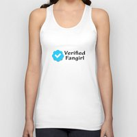 fangirl Tank Tops featuring Verified Fangirl by AliyaStorm
