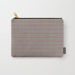Cavern Clay Warm Terra Cotta SW 7701 Horizontal Line Patterns 3 on Slate Violet Gray Carry-All Pouch