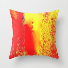 Wealth of red and yellow Throw Pillow