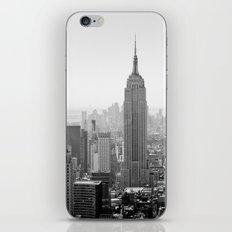 Manhattan - Empire State Building Panorama | B/W iPhone & iPod Skin