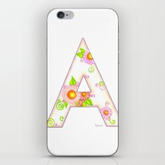 A is for Aster iPhone & iPod Skin