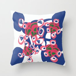 Connecting placement print Throw Pillow