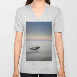 """SuperMoon At Plomo Beach"" Unisex V-Neck"