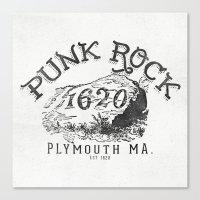 punk rock Canvas Prints featuring Punk Rock Plymouth Ma. by Kris Petrat Design