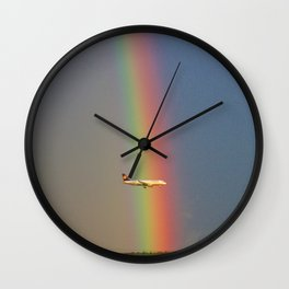 Splitting The Rainbow Wall Clock