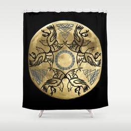 Huginn & Muninn triskele Shower Curtain