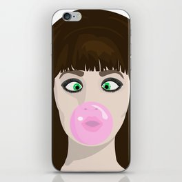 Blow gum iPhone Skin
