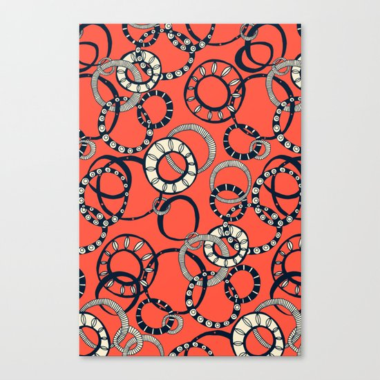 Honolulu hoopla orange Canvas Print