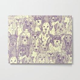 dogs aplenty purple cream Metal Print