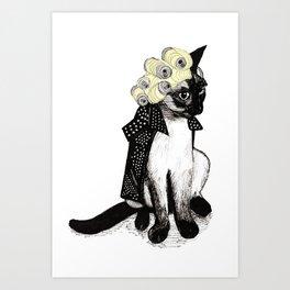 Cat Can  Art Print