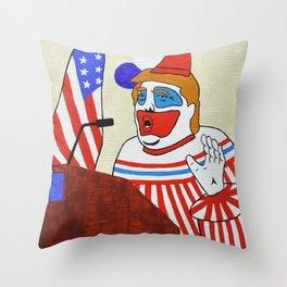 Clown president Throw Pillow