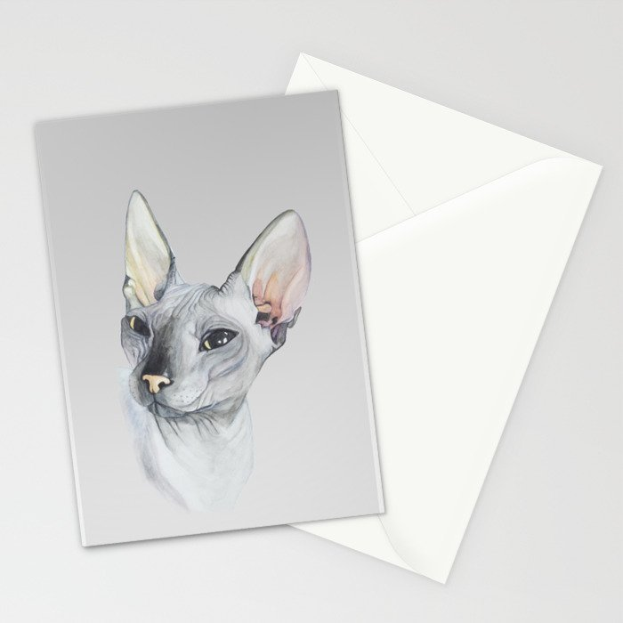 Cat Portrait #3 - Sphynx (2016) Stationery Cards
