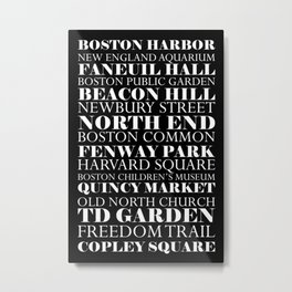 Boston Landmarks Metal Print