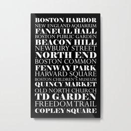 Boston Landmarks Metal Print