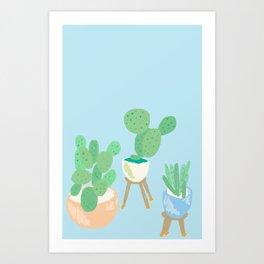 Cactus still life Art Print