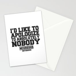 CONOR MCGREGOR QUOTES Stationery Cards
