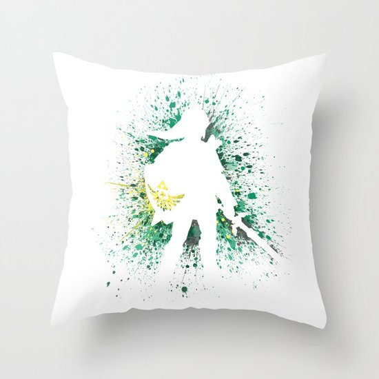 The Legend of Zelda - Link Throw Pillow by Kyle Samuel Society6