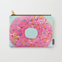 Giant Donut on Mint Carry-All Pouch
