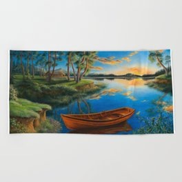 Pine lake Beach Towel