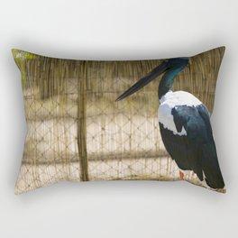 Black Necked Stork Rectangular Pillow