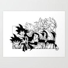 Saiyajin Heroes - Goku Art Print