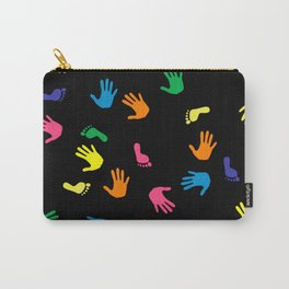 Handprint footprint multicolored Carry-All Pouch
