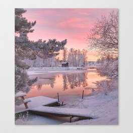 WINTER SCENE-3118/1 Canvas Print
